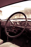 Uitstekende sepia Auto in Close-up Royalty-vrije Stock Fotografie