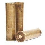 Uitstekende shells van het messingsjachtgeweer Stock Afbeelding