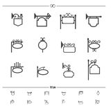 Uitstekende signage vector vector illustratie