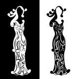 Uitstekende silhouetten van dames Royalty-vrije Stock Foto's