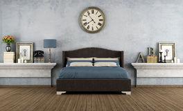 Uitstekende slaapkamer Royalty-vrije Stock Fotografie