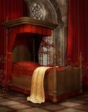 Uitstekende slaapkamer met rozen Stock Fotografie