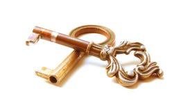 Uitstekende sleutels Stock Foto's