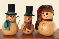 Uitstekende sneeuwmannen Stock Foto's
