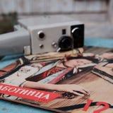 Uitstekende sovjetdagboeken Stock Foto's
