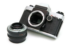 Uitstekende spiegelcamera Stock Foto