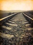 Uitstekende spoorweg royalty-vrije stock afbeeldingen
