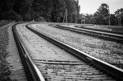 Uitstekende spoorweg aan de Russische Federatie stock foto's