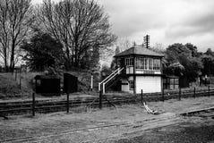Uitstekende Spoorweg Signalbox Royalty-vrije Stock Foto