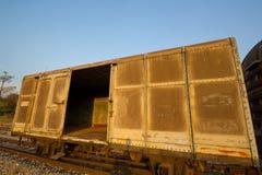 Uitstekende spoorwegcontainer Royalty-vrije Stock Afbeelding