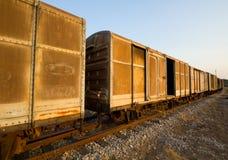 Uitstekende spoorwegcontainer Stock Afbeelding