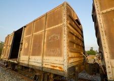 Uitstekende spoorwegcontainer Stock Afbeeldingen