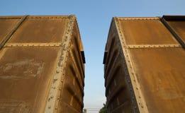 Uitstekende spoorwegcontainer Royalty-vrije Stock Foto's