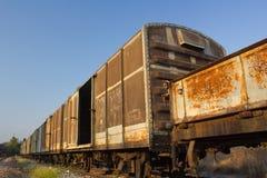 Uitstekende spoorwegcontainer Royalty-vrije Stock Foto