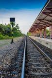 Uitstekende spoorwegtrein Stock Foto
