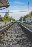 Uitstekende spoorwegtrein Stock Foto's