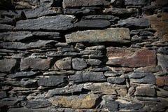 Uitstekende steenmuur Stock Afbeelding