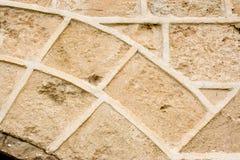 Uitstekende steenmuur. stock foto
