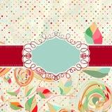 Uitstekende stijlachtergrond met bloemen. EPS 8 Stock Afbeeldingen