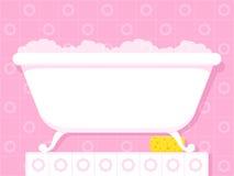 Uitstekende stijlbadkuip met zeepachtige bellen Royalty-vrije Stock Foto