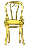 Uitstekende stoel bentwood stoel het schilderen illustratie Royalty-vrije Stock Foto's