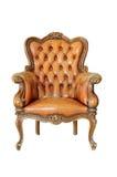 Uitstekende stoel die op wit wordt geïsoleerdt Royalty-vrije Stock Foto