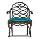 Uitstekende stoel die op witte antiquiteit opgevulde stoel background Vector illustratie royalty-vrije illustratie