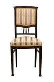 Uitstekende stoel die op witte antiquiteit opgevulde stoel background Royalty-vrije Stock Fotografie
