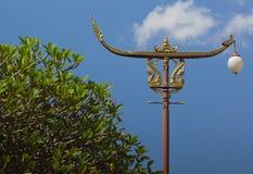 Uitstekende straatlantaarns, Nan, Thailand Stock Foto