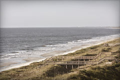 Uitstekende strandfoto Stock Foto