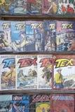 Uitstekende strippagina Tex royalty-vrije stock fotografie
