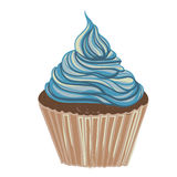Uitstekende tekening cupcake Vector Illustratie