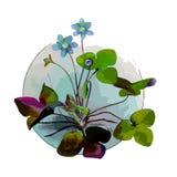 Uitstekende tekening van bloemen Vector illustratie stock illustratie