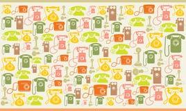 Uitstekende telefoons colorfull achtergrond Stock Foto