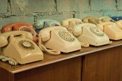 Uitstekende telefoons op de lijst Stock Foto's