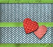 Uitstekende textuur, de kaart van de valentijnskaart Stock Afbeeldingen