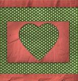 Uitstekende textuur, de kaart van de valentijnskaart Royalty-vrije Stock Afbeelding