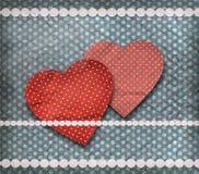 Uitstekende textuur, de kaart van de valentijnskaart Stock Foto's