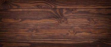 Uitstekende textuur van donkere gelijke houten raad Stock Afbeelding