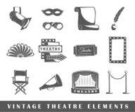 Uitstekende theaterelementen Stock Afbeeldingen