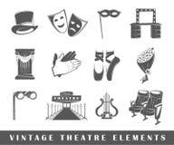 Uitstekende theaterelementen Royalty-vrije Stock Fotografie