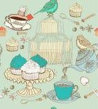 Uitstekende theeachtergrond Stock Foto's