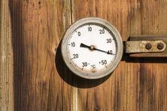 Uitstekende Thermometer royalty-vrije stock afbeelding