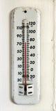 Uitstekende thermometer Stock Foto