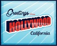 Uitstekende Toeristische Groetkaart Hollywood stock illustratie