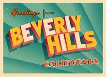 Uitstekende Toeristische Groetkaart van Beverly Hills, Californië royalty-vrije illustratie