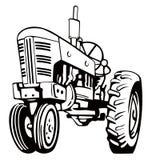 Uitstekende tractor Stock Afbeelding