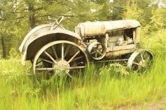 Uitstekende tractor royalty-vrije stock foto's