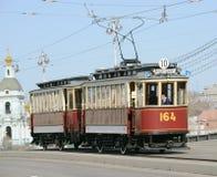 Uitstekende tram Stock Foto's