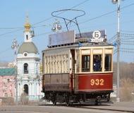 Uitstekende tram Royalty-vrije Stock Foto's